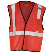 ML Kishigo B122 Enhanced Visibility Mesh Vest - Red