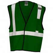 ML Kishigo B123 Enhanced Visibility Mesh Vest - Green