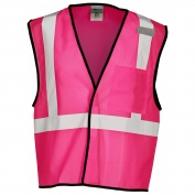 ML Kishigo B126 Enhanced Visibility Mesh Vest - Pink