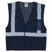 ML Kishigo B127 Enhanced Visibility Mesh Vest - Navy Blue