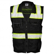 ML Kishigo B500 Enhanced Visibility Professional Utility Safety Vest - Black