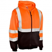 ML Kishigo JS103 Full Zip Hoodie Sweatshirt - Orange