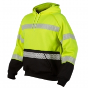 ML Kishigo JS142 Pull Over Hoodie Sweatshirt - Yellow/Lime