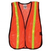ML Kishigo P-V17 P-Series Lime Tape Mesh Safety Vest - Orange