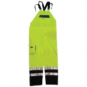 ML Kishigo RWB106 Brilliant Series Rain Bib Pants - Yellow/Lime