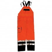 ML Kishigo RWB107 Brilliant Series Rain Bib Pants - Orange