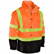 ML Kishigo RWJ101 Storm Stopper Pro Rain Jacket - Orange