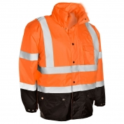 ML Kishigo RWJ103 Storm Cover Rain Jacket - Orange