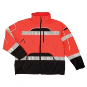 ML Kishigo RWJ107 Brilliant Series Rain Jacket - Orange