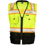 ML Kishigo S5002 Black Series Surveyor Safety Vest - Yellow/Lime