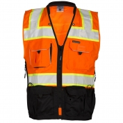 ML Kishigo S5003 Black Series Surveyor Safety Vest - Orange