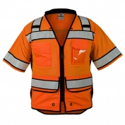 ML Kishigo S5015 High Performance Class 3 Surveryor Safety Vest - Orange