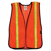 ML Kishigo T-V17 T-Series Lime Tape Mesh Safety Vest - Orange