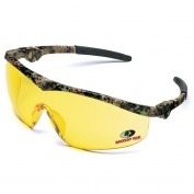 Crews Mossy Oak Storm Safety Glasses - Camo Frame - Amber Lens