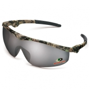Crews Mossy Oak Storm Safety Glasses - Camo Frame - Silver Mirror Lens