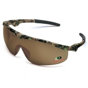 Crews Mossy Oak Storm Safety Glasses - Camo Frame - Brown Lens