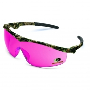 Crews Mossy Oak Storm Safety Glasses - Camo Frame - Pink Lens