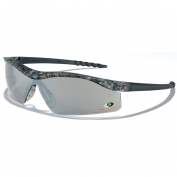 Crews Mossy Oak Dallas Safety Glasses - Camo Frame - Silver Mirror Lens