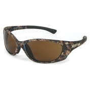 Crews Mossy Oak Plasma Safety Glasses - Camo Frame - Brown Lens
