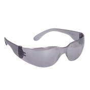 Radians MR0160ID Mirage Safety Glasses - Smoke Frame - Silver Mirror Lens