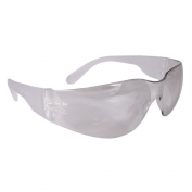 Radians MR0191ID Mirage Safety Glasses - Clear Frame - Indoor/Outdoor Anti-Fog Mirror Lens