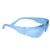 Radians MR01B0ID Mirage Safety Glasses - Light Blue Frame - Light Blue Lens