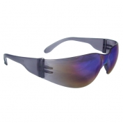 Radians MR01R0ID Mirage Safety Glasses - Smoke Frame - Rainbow Mirror Lens