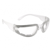 Radians Mirage Safety Glasses - Clear Foam Lined Frame - Clear Anti-Fog Lens