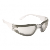 Radians Mirage Safety Glasses - Clear Foam Lined Frame - Indoor/Outdoor Anti-Fog Mirror Lens