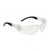 Radians Mirage RT Safety Glasses - Black Temple Tips - Clear Lens