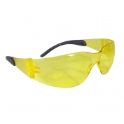 Radians Mirage RT Safety Glasses - Smoke Temple Tips - Amber Lens