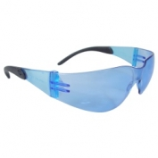 Radians Mirage RT Safety Glasses - Smoke Temple Tips - Light Blue Lens