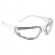 Radians Mirage Small Safety Glasses - Clear Foam Lined Frame - Clear Anti-Fog Lens