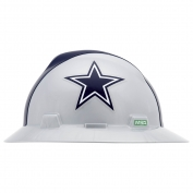 MSA 10194750 V-Gard NFL Full Brim Hard Hat - Dallas Cowboys