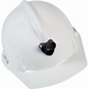 MSA 448914 Topgard Cap Style Hard Hat w/ Lamp Bracket - 1-Touch Suspension - White