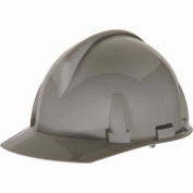 MSA 454722 Topgard Slotted Cap Style Hard Hat - 1-Touch Suspension - Gray