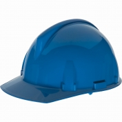 MSA 454723 Topgard Slotted Cap Style Hard Hat - 1-Touch Suspension - Blue