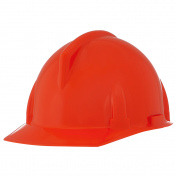 MSA 454727 Topgard Slotted Cap Style Hard Hat - 1-Touch Suspension - Red