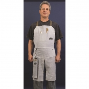 Memphis 38236MW Leather Welding Bib Apron with Split Legs - 24