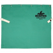 "Memphis 39114 Cotton Welding Bib -  Snaps to fit Cape Sleeves - 14"" Length"