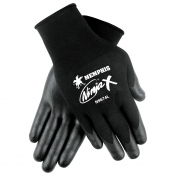 Memphis N9674 Ninja X Bi-Polymer Coated Gloves - 15 Gauge Nylon/Lycra Shell - Black