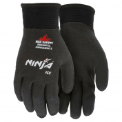 Memphis N9690FC Ninja Ice Fully Coated HPT Gloves - 15 Gauge Nylon Shell - Black