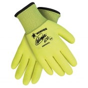 Memphis N9690HV Ninja Ice 3/4 HPT Coated Gloves - 15 Gauge Nylon Shell - Yellow