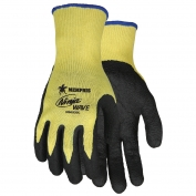 Memphis N96930 Ninja Wave Gloves - 10 Gauge Kevlar Shell - Nitrile Wave Coated Palm & Fingertips