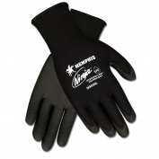 Memphis N9699 Ninja HPT Foam Coated Gloves - 15 Gauge Nylon Shell - Black