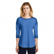 New Era LNEA104 Ladies Heritage Blend 3/4-Sleeve Baseball Raglan Tee - Royal/Royal Heather Twist