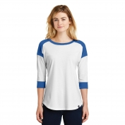 New Era LNEA104 Ladies Heritage Blend 3/4-Sleeve Baseball Raglan Tee - Royal/White