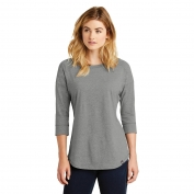 New Era LNEA104 Ladies Heritage Blend 3/4-Sleeve Baseball Raglan Tee - Shadow Grey Heather
