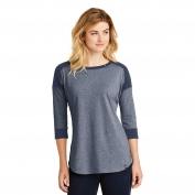 New Era LNEA104 Ladies Heritage Blend 3/4-Sleeve Baseball Raglan Tee - True Navy/True Navy Twist