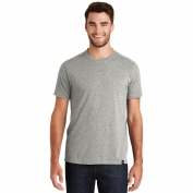 New Era NEA100 Heritage Blend Crew Tee - Light Graphite Twist